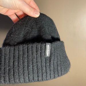 Patagonia Brodeo wool blend black beanie hat